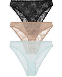 Honeydew Intimates Lexi Lace Bikinis - Black