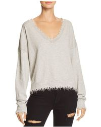 Nation Ltd - Darcy Boxy Distressed Sweater - Lyst