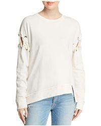 Joe's Jeans - The Alice Laced-sleeve Sweatshirt - Lyst