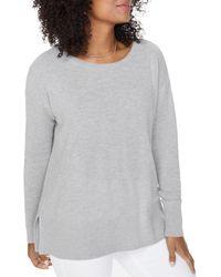 NYDJ Waffle Knit Sweater - Gray