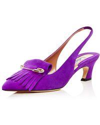 Brian Atwood - Women's Georgina Kiltie Fringe Slingback Court Shoes - Lyst