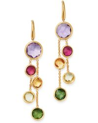 Marco Bicego 18k Yellow Gold Jaipur Colour Two - Strand Gemstone Drop Earrings - Metallic