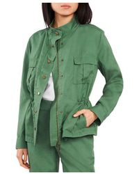 Vince Camuto Cinch Waist Jacket - Green