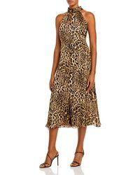 MILLY Adrian Midi Dress - Brown