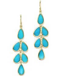 Ippolita - 18k Yellow Gold Rock Candy® Cascade Teardrop Earrings With Turquoise - Lyst