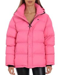 Bagatelle Sport Water - Resistant Puffer Coat - Pink