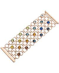 Atelier Swarovski X Mary Katrantzou Nostalgia Wide Openwork Bracelet - Metallic