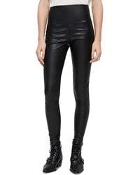 AllSaints - Cora Faux Leather Leggings - Lyst