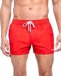 2xist 2(x)ist Essential Ibiza Rainbow - Print Swim Shorts - Red