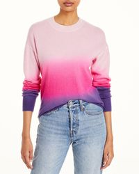 Aqua Cashmere Ombre Cashmere Jumper - Pink