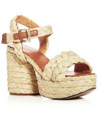 9c43415511e Clergerie - Robert Women s Vittoria Raffia High-heel Platform Sandals - Lyst