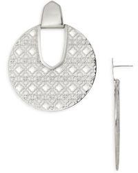 Kendra Scott - Diane Latticework Medallion Drop Earrings - Lyst