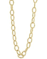 Lagos - Caviar Gold Collection 18k Gold Beaded Link Necklace - Lyst
