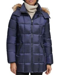 Marc New York - Riverdale Faux Fur Trim Hooded Puffer Coat - Lyst