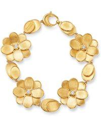 Marco Bicego - 18k Yellow Gold Petali Diamond Bracelet - Lyst