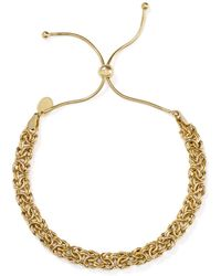 Argento Vivo Woven Chain Adjustable Bracelet In 18k Gold - Plated Sterling Silver - Metallic