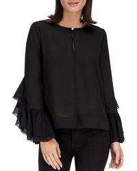 B Collection By Bobeau - Jazz Flounce Sleeve Top - Lyst