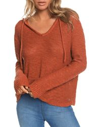 Roxy Shades Of Cool Hooded Sweatshirt - Orange