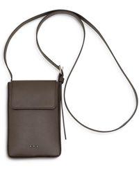 Peserico Leather Phone Crossbody - Brown