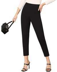 Cupcakes And Cashmere Gina Cropped Stretch Ponte Pants - Black