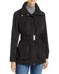 Via Spiga Packable Belted Anorak Rain Coat - Black