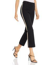 10 Crosby Derek Lam Derek Lam 10 Corinna Tuxedo - Stripe Cropped Trousers - Black