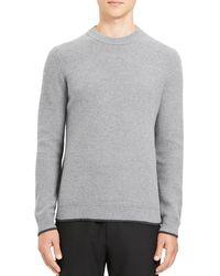 Theory Winlo Crimden Wool - Blend Jumper - Grey