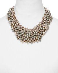 Weekend by Maxmara Resina Beaded Statement Necklace - Metallic
