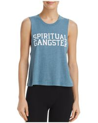 Spiritual Gangster - Cropped Muscle Tee - Lyst