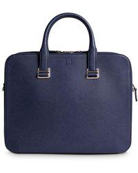 Dunhill Cadogan Leather Slim Double Document Case - Blue