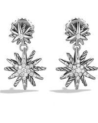 David Yurman | Starburst Double-drop Earrings With Diamonds | Lyst