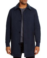 Michael Kors Hybrid Water - Resistant Textured Coat - Blue