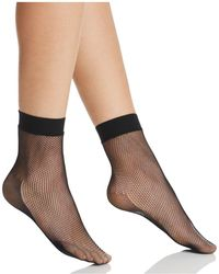 Hue - Sporty Fishnet Ankle Socks - Lyst
