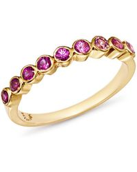 Shebee - 14k Yellow Gold Ombré Pink Sapphire Band - Lyst
