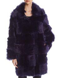 ESCADA Liksa Mixed - Pile Fur Coat - Blue