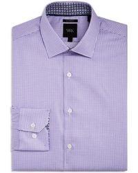 W.r.k. - Micro Dobby Square Slim Fit Dress Shirt - Lyst
