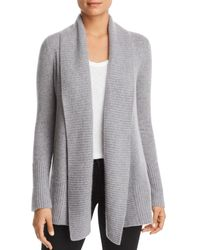 C By Bloomingdale's Shawl - Collar Cashmere Cardigan - Gray