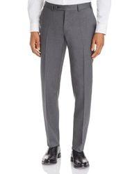 Canali Capri Textured - Weave Slim Fit Dress Pants - Gray