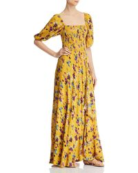 Band Of Gypsies Madrid Floral Maxi Dress - Yellow