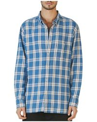 8a84d5a151 Cabin Long Sleeve Plaid Relaxed Fit Shirt - Blue