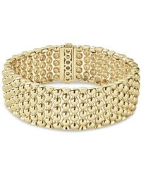 Lagos - Caviar Gold Collection 18k Gold Wide Beaded Bracelet - Lyst
