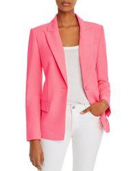 MILLY Avery Single - Button Blazer - Pink