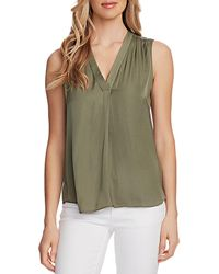 Vince Camuto Shirred High/low Tank - Green