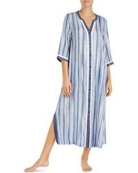 Donna Karan - Striped Maxi Sleepshirt - Lyst