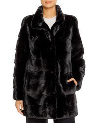 Maximilian Nafa Mink Fur Coat - Black