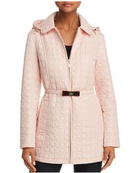 Kate Spade Bow Quilted Coat - Pink