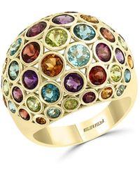 Bloomingdale's Rainbow Gemstone Statement Ring In 14k Yellow Gold - Metallic