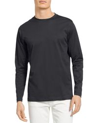 Theory Roy Luxe Jersey Long Sleeve Tee - Black