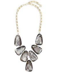 Kendra Scott Harlow Grey Illusion Statement Necklace - Metallic