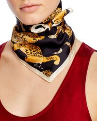 Echo Prowling Ocelot Silk Neckerchief - Black